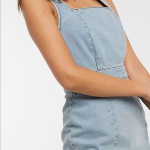 Denim summer dress with the open back